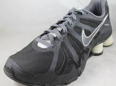 Nike Shox Turbo+ 13 Men's Black Gray White Running Shoes 525155-012 Sz 10 #Nike #RunningCrossTraining