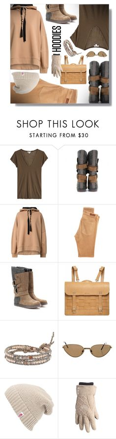 """must-have HOODIES"" by simply-one ❤ liked on Polyvore featuring James Perse, SOREL, Dorothee Schumacher, AG Adriano Goldschmied, Chan Luu, Cartier, The North Face and Hoodies"