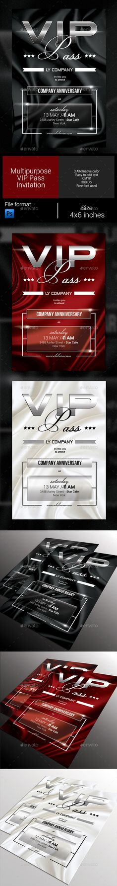 Devil Red Vip Pass Template Vip pass, Vip and Devil - invitation card format for conference