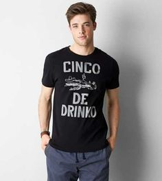 AEO Cinco De Drinko Graphic T-Shirt - American Eagle Outfitters