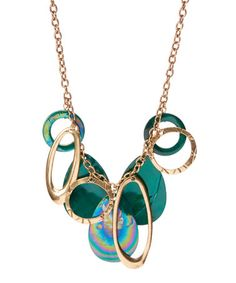 Another great find on #zulily! Blue Shell & Goldtone Bib Necklace by Erica Lyons #zulilyfinds