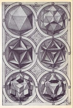 Aqua - Perspectiva Corporum Regularium -  Wenzel Jamnitzer 1568 by peacay, via Flickr
