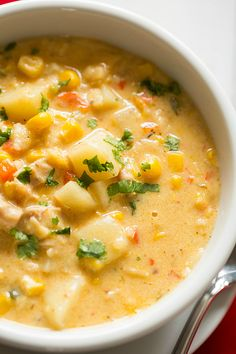 Chipotle Chicken and Corn Chowder...