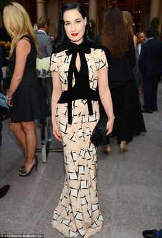 9-30-13.   Elegance: Dita Von Teese is the master when it comes to dressing for your shape