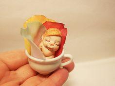 Ooak Miniature Tiny Magic Fairy Sleeping in a by ArtistaToscana, $53.00