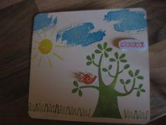Kindergeburtstagskarte, Stampin up, Work of Art, Der Wald ruft,