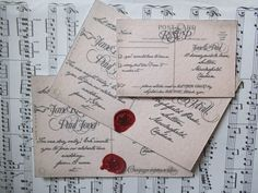 Personalised Antique postcard calligraphy by szeilerdesigns