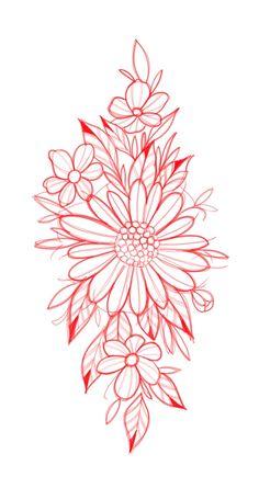 Tattoos Faciles, City Flowers, Floral Tattoos, Tattoo Feminina, Desenho Tattoo, Traditional Tattoos, Watercolor Flowers, Girl Tattoos, Flower Art