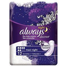 Always – Discreet Serviettes Maxi Night pour Fuites Urinaires et Incontinence x12: Always Discreet pour fuites urinaires Technologies…