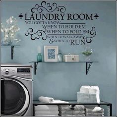 Perfect for the laundry room! Customize and Order yours from Uppercase Living Christian Wall Decals, Laundry Signs, My New Room, Home Projects, Sweet Home, New Homes, Room Decor, Wall Decor, Diy Wall