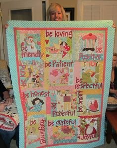 """""""Attitudes"""" Quilt by JoAn.  Think this is a Nancy Halvorsen (spelling ?)  pattern."""
