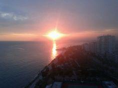 Mersin city sunset