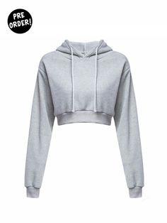 c2a380f351 Gray Sweatshirt With Hoodie Blusa De Frio Moleton