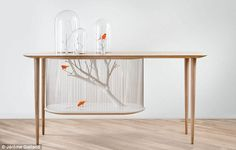 Extraordinary Table That Doubles As A Bird Cage