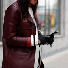 bags shoes, valentino rock studs, leather coat, celine coat