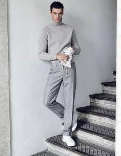 Shades of Grey | Menswear | Knit | Fall15 | Fashion | Vogue | Street Style | Monochrome jetzt neu! ->. . . . . der Blog für den Gentleman.viele interessante Beiträge  - www.thegentlemanclub.de/blog