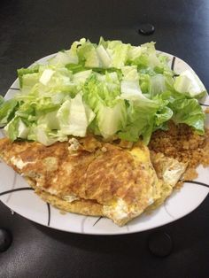 So.... This is my lunch today    4 eggs = 2 red  Romaine Lettuce = 2 green Quinoa = 1 yellow  I know it looks like a lot because it is! No starving my body over here ....& that's what the #21dayfix meal plan recommends...so here we go yum yum away ......