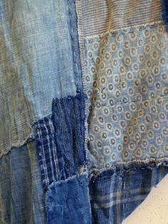 Detail boro kimono. Bron: Sri Threads.