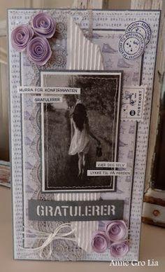 min lille scrappe-verden: Konfirmantkort til jente (DT for Kort & Godt)
