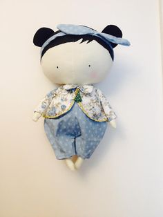 Tilda Sweetheart Doll : Happy New Year by HandmadeRagLove on Etsy