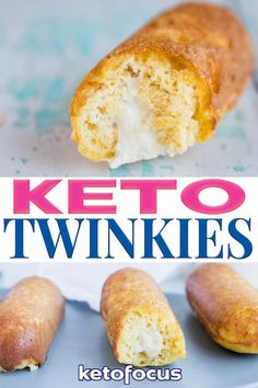 Craving a delicious dessert that is healthy and low on carbs? Try these keto twinkies! This recipe only makes two twinkies so it's the perfect portion controlled keto dessert. As soon as you sink your teeth into the creamy marshmallow filled keto twinkies, you'll be transported to your childhood. Ah, those carefree days full of those iconic childhood, delightful desserts! The spongy white cake with the creamy marshmallow surprise inside. Those were the days! | @ketofocus Easy Low Carb Lunches, Healthy Low Carb Recipes, Keto Recipes, Dessert Recipes, Low Calorie Drinks, Keto Side Dishes, Lunch Box Recipes, Low Carb Desserts, Keto Snacks