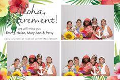 A luau themed print template honoring 4 special retirees at Del Prado Elementary School in Boca Raton, FL.