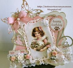 Voorbeeldkaart - ...Happy Birthday..voor Antoinette - Categorie: Scrapkaarten - Hobbyjournaal uw hobby website