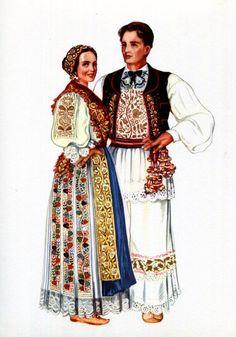 Croatian National Costume Print Vintage V Kirin Folk Ethnic Dress Croatia… Russian Folk, Ethnic Dress, Folk Costume, Ethnic Fashion, Traditional Dresses, Vintage Prints, Trending Outfits, Folk Clothing, Vintage Clothing