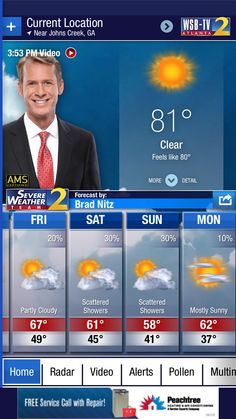 Forecast for Johns Creek, GA from the @WSBTV Channel 2 Weather App. Download at http://wsbtvweatherapp.com.