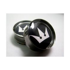 Kingdom Hearts Plugs- 1 Pair (2 plugs) - 2g, 0g, 00g, 7/16, 1/2, 9/16,... ($20) ❤ liked on Polyvore featuring stainless steel jewelry, heart jewelry, stainless steel jewellery and heart shaped jewelry