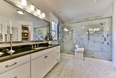 Owners Bath with Spacious Spa Shower Spa Shower, Under Cabinet Lighting, Masons, Outdoor Living Areas, Guest Suite, Gas Fireplace, Beautiful Bathrooms, House Floor Plans