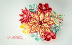 Butterfly Tsumami Kanzashi Wedding Fabric by wonderfulkanzashi, $45.00