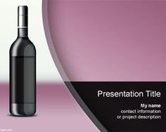 Wine Spectator PowerPoint Template is a free violet background template for wine presentations