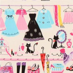 off-white Cosmo girls wardrobe fabric from Japan