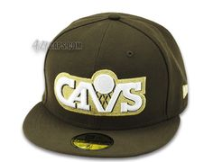 Cleveland Cavaliers Brown 59Fifty Fitted Baseball Cap by NEW ERA x NBA