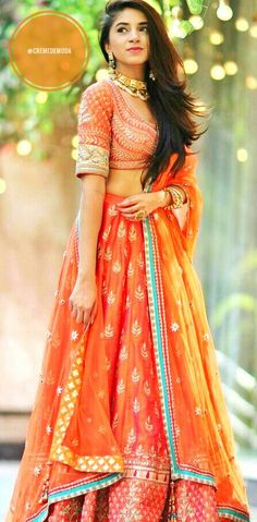 Lehenga By Anita Dongre  #Lehenga #DesiFashion #IndianFashion @CremeDeModa