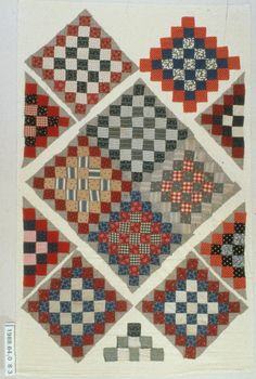 Checkerboard  1876-1900  Ames, Iowa  Mary Barton Collection  State Historical Society of Iowa