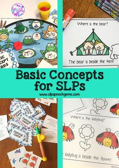 Basic concepts are one area of vocabulary development that I target in Speech therapy. My students love these fun and interactive activities.