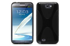 Crystal Matte X-Line Soft TPU Rubber Protector Cases for Samsung Galaxy Note 2 | Lagoo Tech