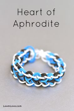 How to Make a Rainbow Loom Heart of Aphrodite Bracelet