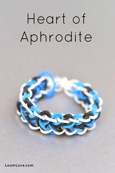 How to Make a Rainbow Loom Heart of Aphrodite Bracelet