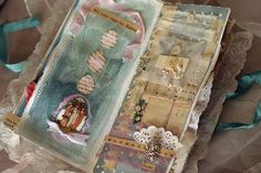 Easter collage in altered book by Marilyn Healey http://www.flickr.com/photos/memriemare/sets/72157601150296916