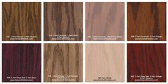 General Finishes Pro Floor Stain® Color Swatch / Chart for Hardwood Flooring Types Of Wood Flooring, Hardwood Floors, Floor Stain Colors, Color Swatches, Pure White, Neutral, General Finishes, Pure Products, Chart