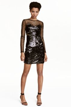 Short sequined dress | H&M