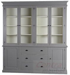 Color for the kitchen buffetkast Grey Cupboards, Home And Living, Living Room, Kitchen Interior, Country Style, China Cabinet, Beautiful Homes, Sweet Home, Design Inspiration