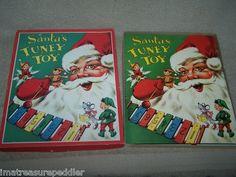 Vintage 1956 Santa's Tuney Toy Child's Christmas Litho Book + Xylophone Pop Up   eBay