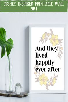 Looking for an disney inspired wall art to go in your home? This happily ever after art print is the perfect addition to your home decor and goes beautiful in a disney inspired wedding. It is an instant download so you can print it straight away, no having to go out to shops, no waiting times, no shipping costs! Awesome!! discover more colourful quotes and styles now #disneywedding #homedecor #disneyprints #instantdownload #disneyquotes Art Decor, Room Decor, Decor Ideas, Gift Ideas, Disney Posters, Disney Quotes, Happily Ever After Disney, Feminine Office Decor, Disney Inspired Wedding