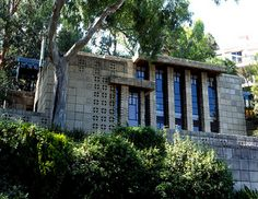 Storer House. Frank Lloyd Wright. Textile Block Style. 1923. Hollywood Hills.
