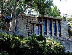 Storer House. Frank Lloyd Wright. Textile Block Style. 1923. Hollywood Hills.