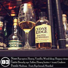 Unique rye -> Cedar Ridge Malted Rye Whiskey